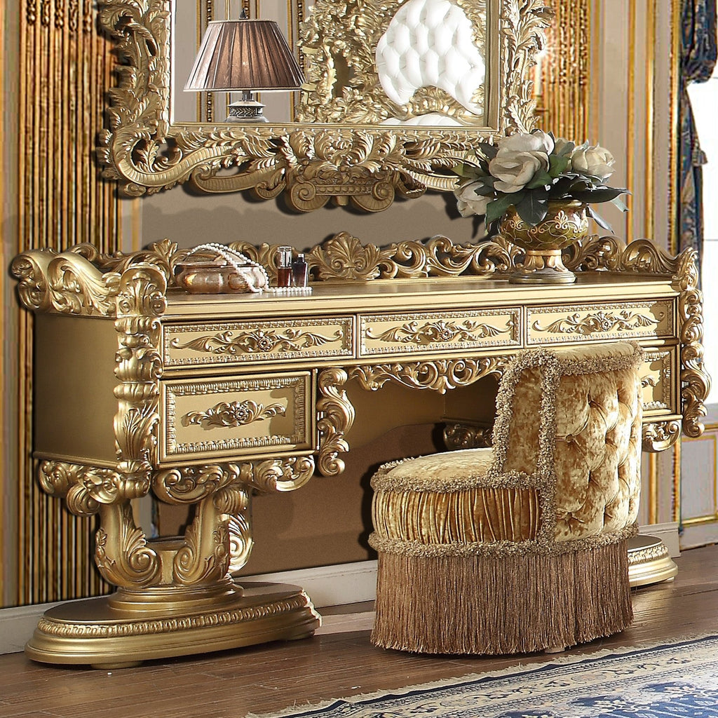 Dresser in Metallic Bright Gold Finish DR8086 European Traditional Victorian