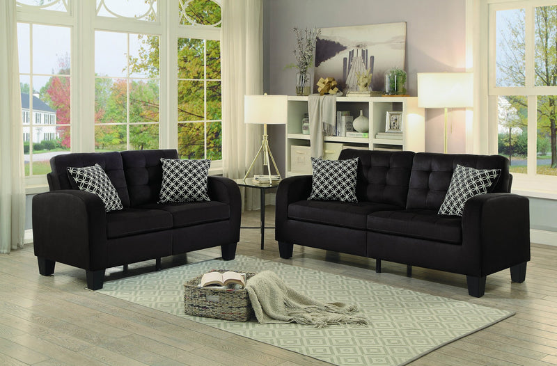 Homelegance Sinclair Park Love Seat in Chocolate Fabric