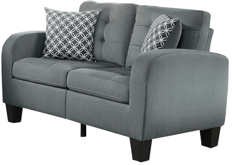 Homelegance Sinclair Park 2PC Sofa & Love Seat in Grey Fabric
