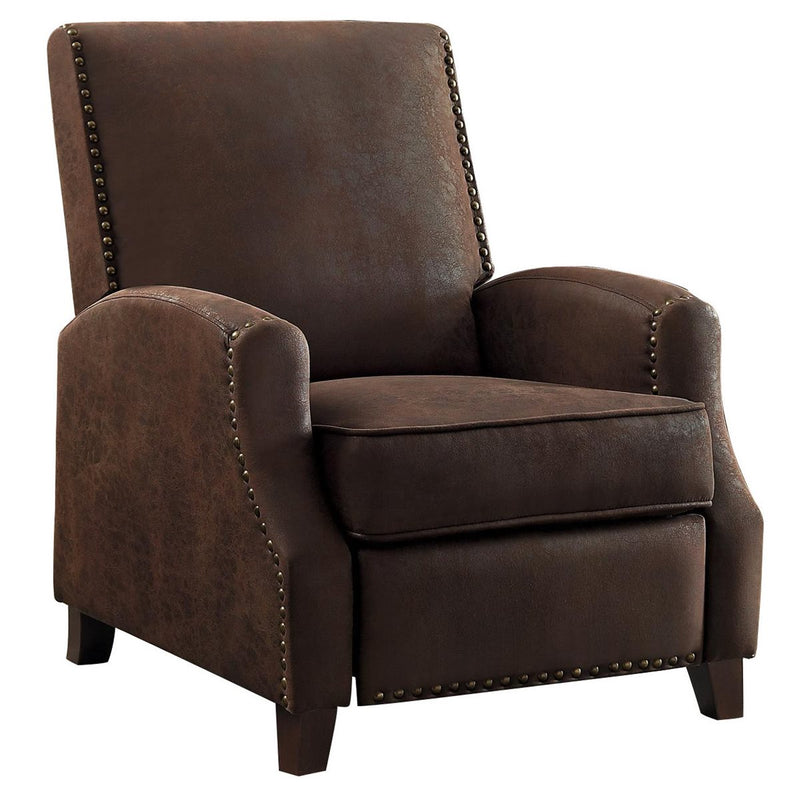 Homelegance Walden Push Back Reclining Chair in Fabric - Brown