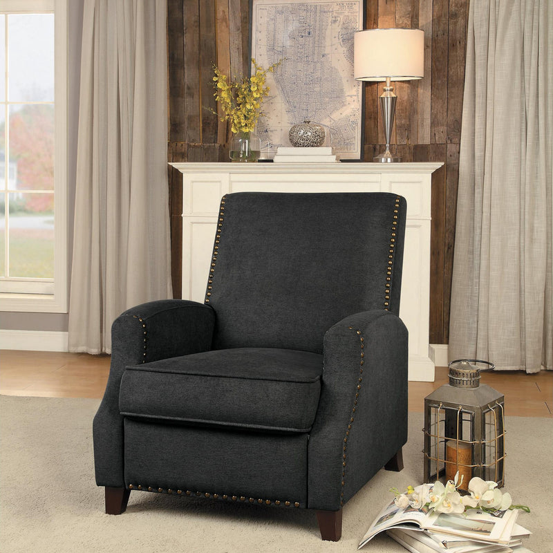 Homelegance Walden Push Back Recliner Chair in Grey Fabric