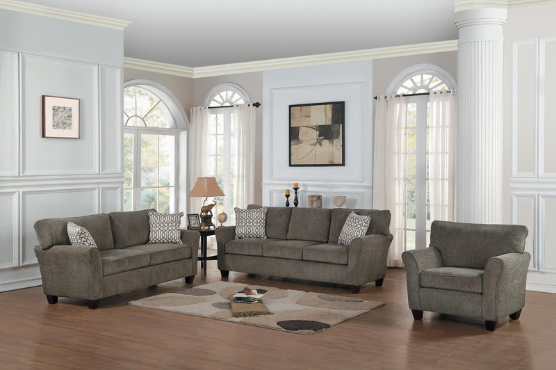 Homelegance Alain 2PC Sofa & Love Seat in Grey Fabric