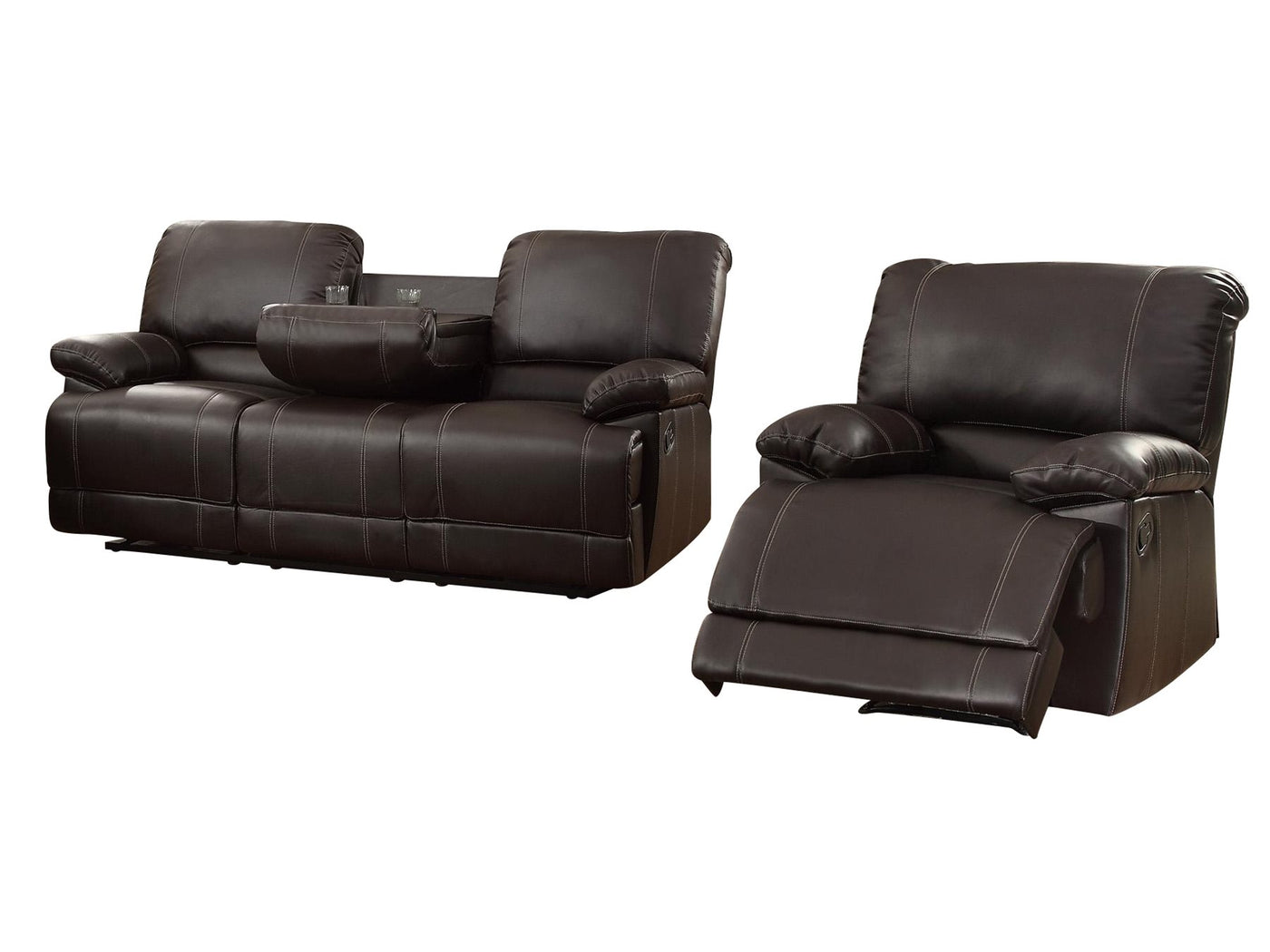 Picture of: Homelegance Cassville 2pc Double Reclining Sofa Reclining Chair The Furniture Space