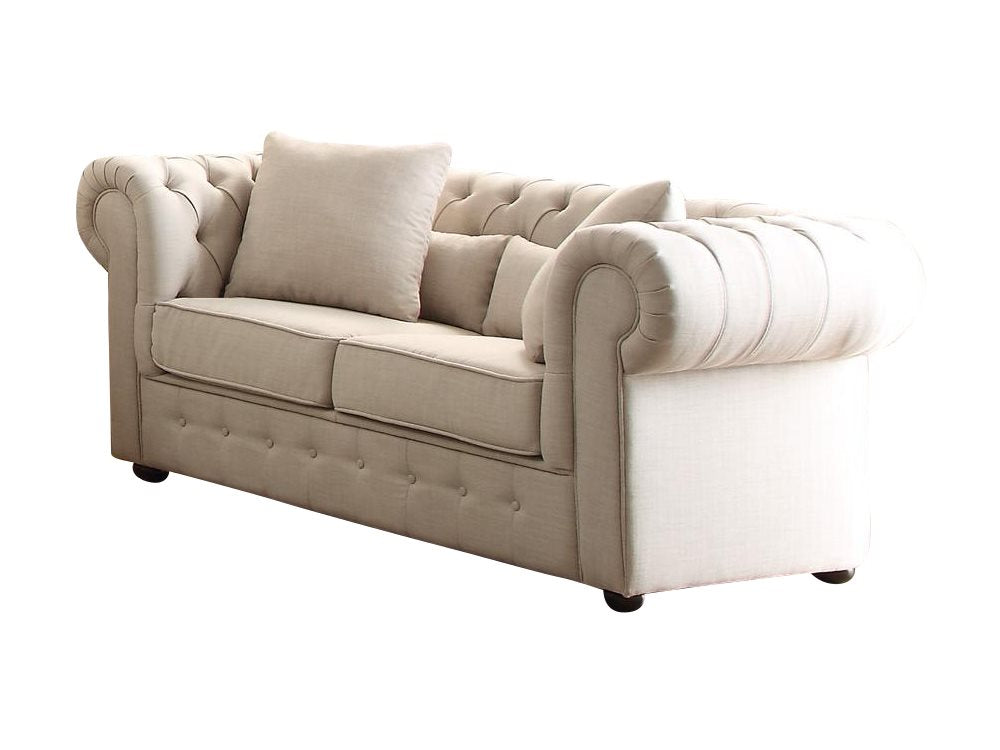Homelegance Savonburg Park Love Seat in Natural Fabric