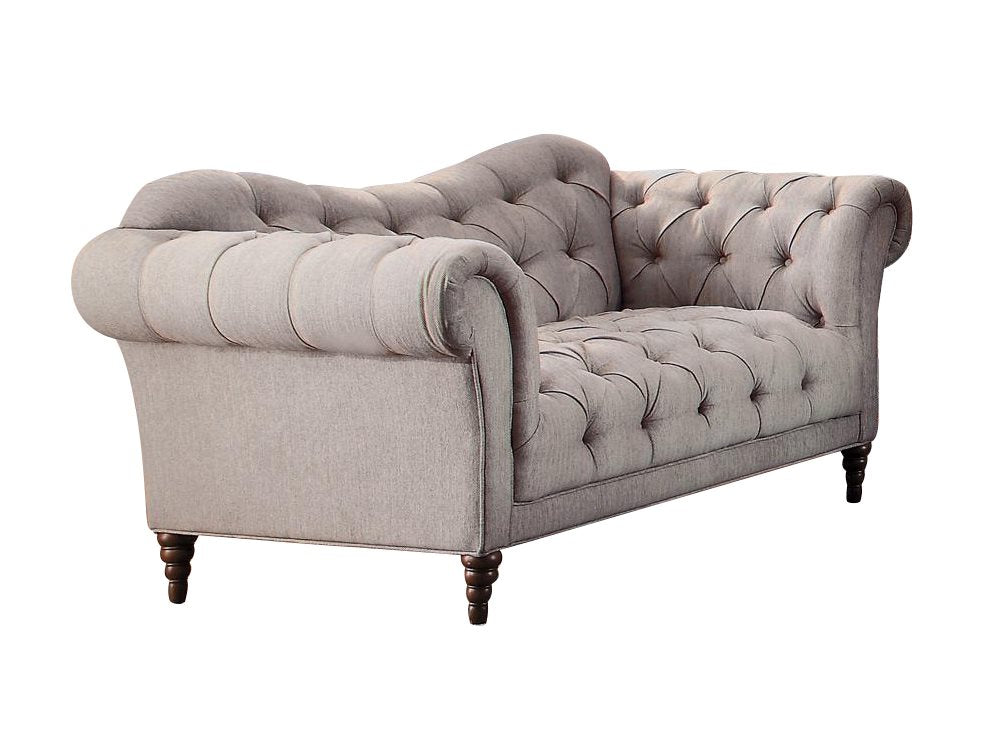 Homelegance St. Claire Park Love Seat in Neutral Beige Fabric