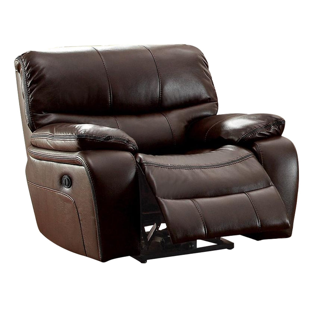 Homelegance All foam Glider Reclining Chair in Leather - Dark Brown
