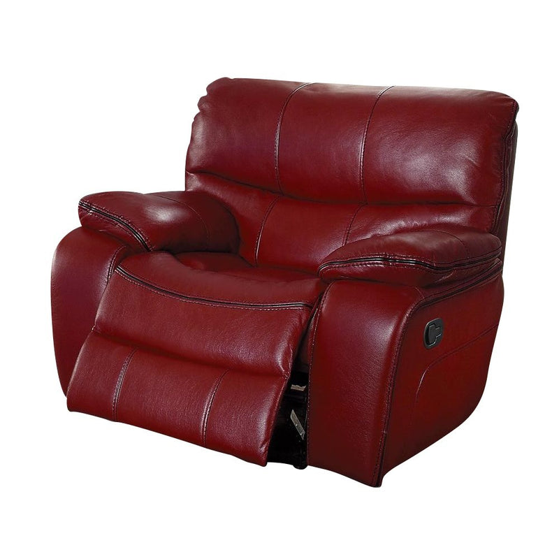Homelegance Pecos 4PC Sectional Reclining Console Love Seat, Corner, Recliner Chair & Reclining Love Seat in Red Leather