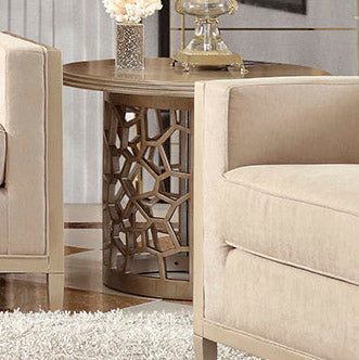 End Table in Champagne Finish E8911 European Traditional Victorian