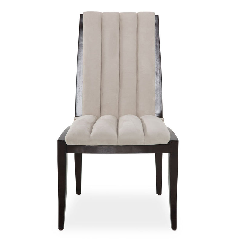 Aico Amini Paris Chic 2 Side Chair in Espresso