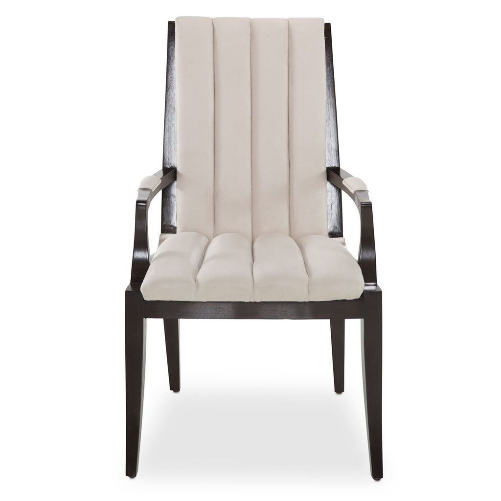 Aico Amini Paris Chic 2 Arm Chair in Espresso
