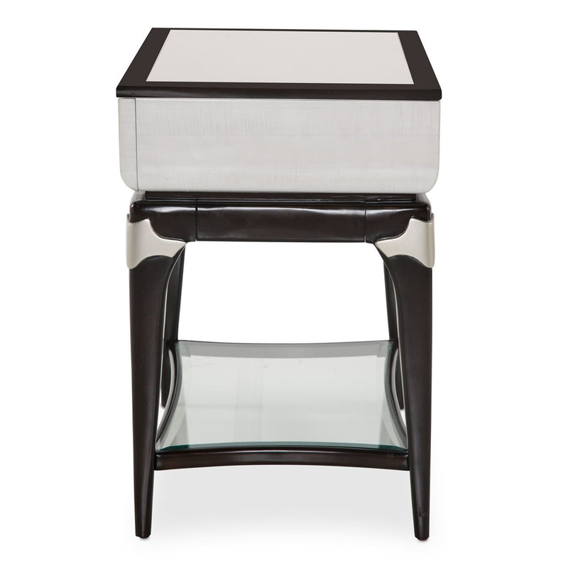 Aico Amini Paris Chic 2 PC Cocktail & Rectangular End Table Set in Espresso