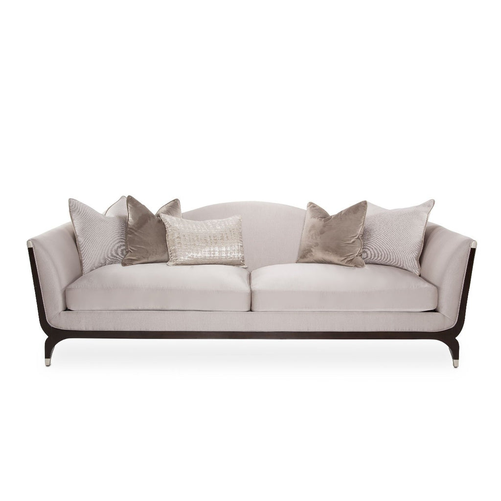 Aico Amini Paris Chic Sofa in Espresso