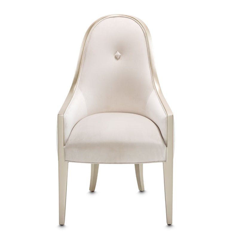 Aico Amini London Place 2 Arm Chair in Creamy Pearl