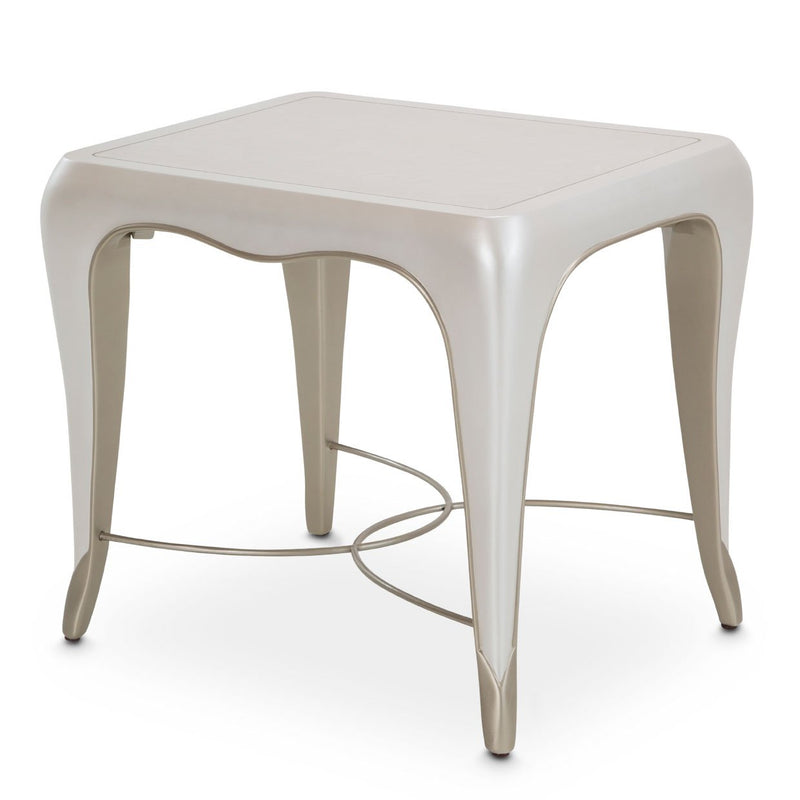 Aico Amini London Place 3 PC Cocktail & 2 End Table Set in Creamy Pearl