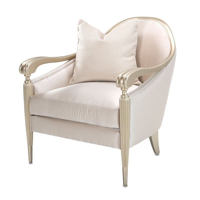 Aico Amini London Place 3 PC Sofa, Chiar-Half & Accent Chair Set in Champagne