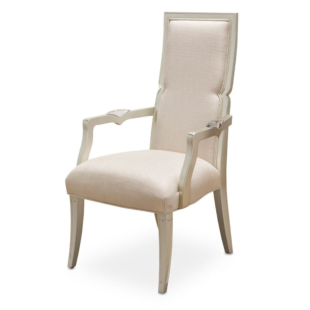 Aico Amini Camden Court 2 Arm Chair in Pearl