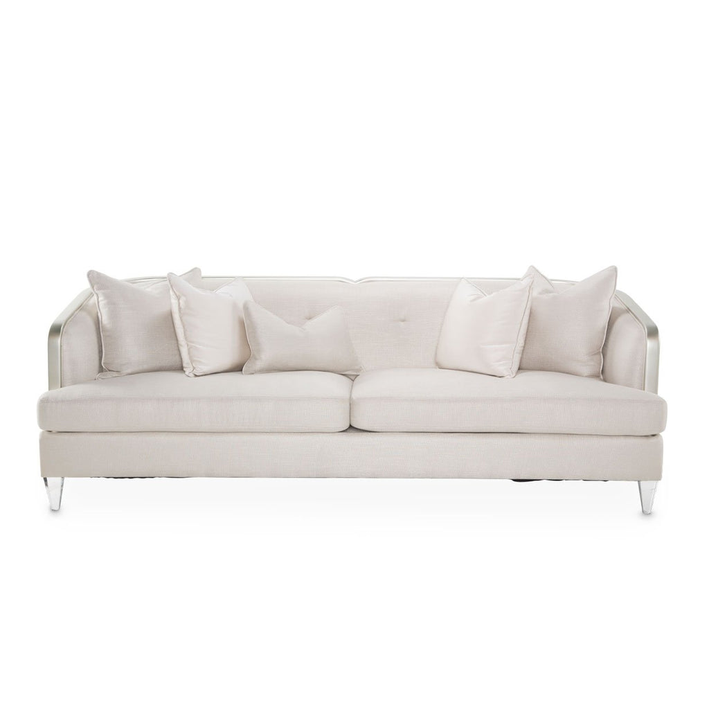Aico Amini Camden Court Sofa in Platinum