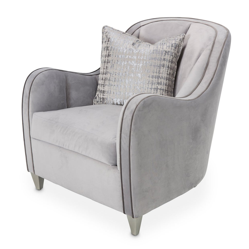 Aico Amini Roxbury Park Matching Living Room Chair in Slate Velvet