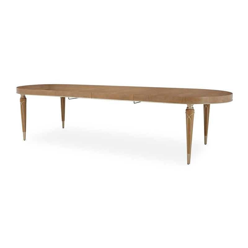 Aico Amini Villa Cherie Oval Dining Table in Caramel