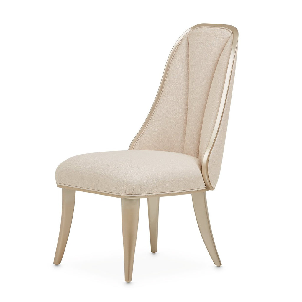 Aico Amini Villa Cherie 2 Side Chair in Caramel