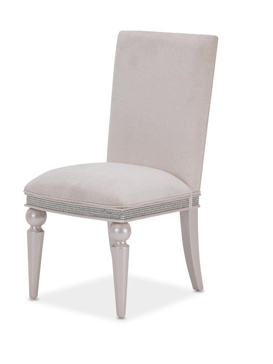 Amini Glimmering Heights Side Chair in Ivory