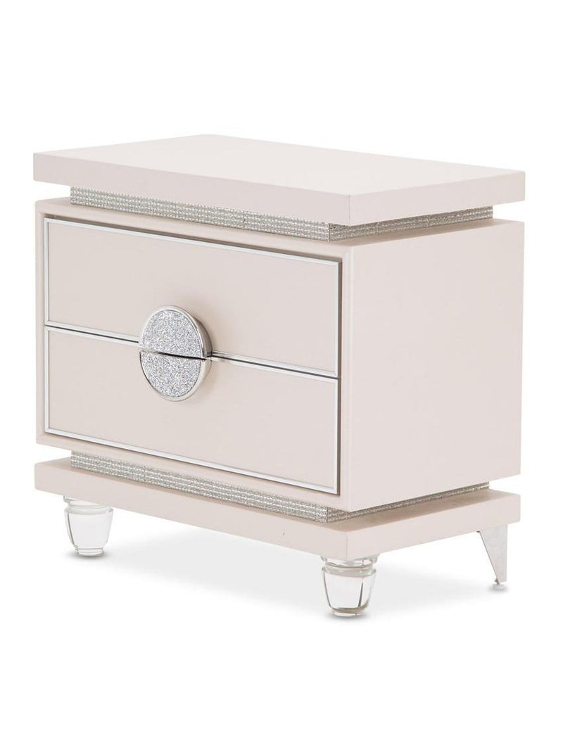 Aico Amini Glimmering Heights Nightstand in Ivory
