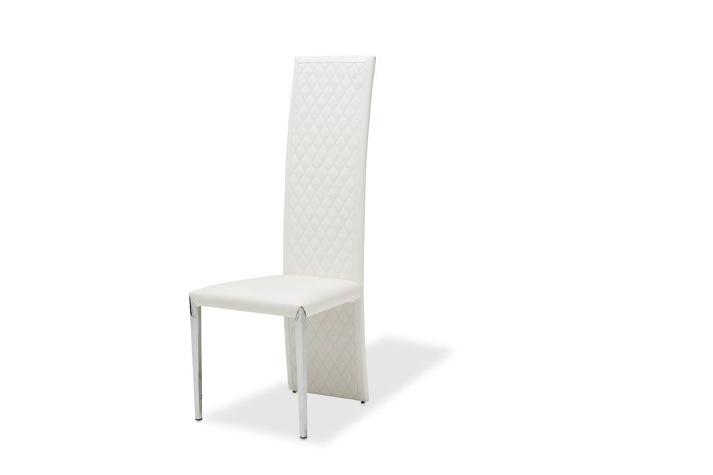 Aico Amini State St 2  Short Side Chair in Glossy White