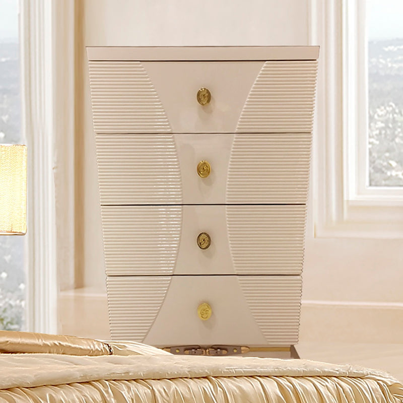 Chest in White Gloss Finish CH914 European Traditional Victorian