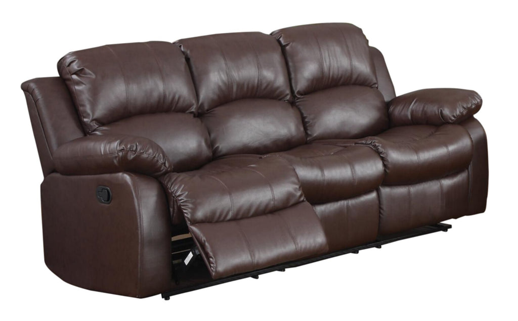 Homelegance Cranley Recliner Chair in Leather - Brown