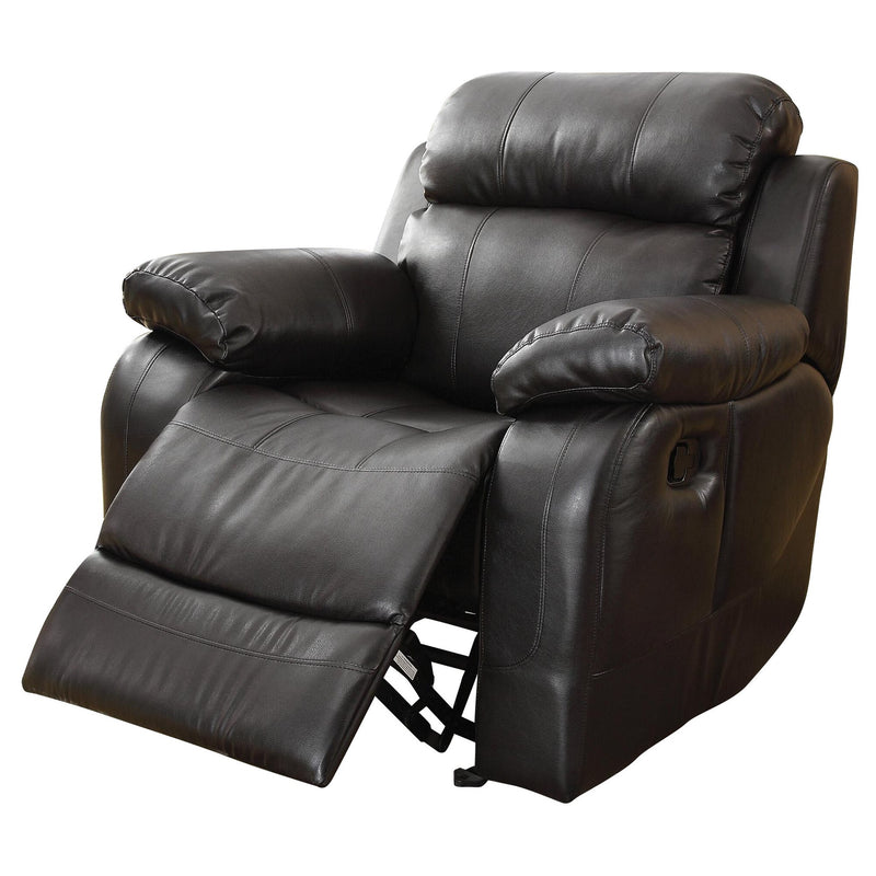 Homelegance MarilleGlider Recliner Chair in Leather - Black
