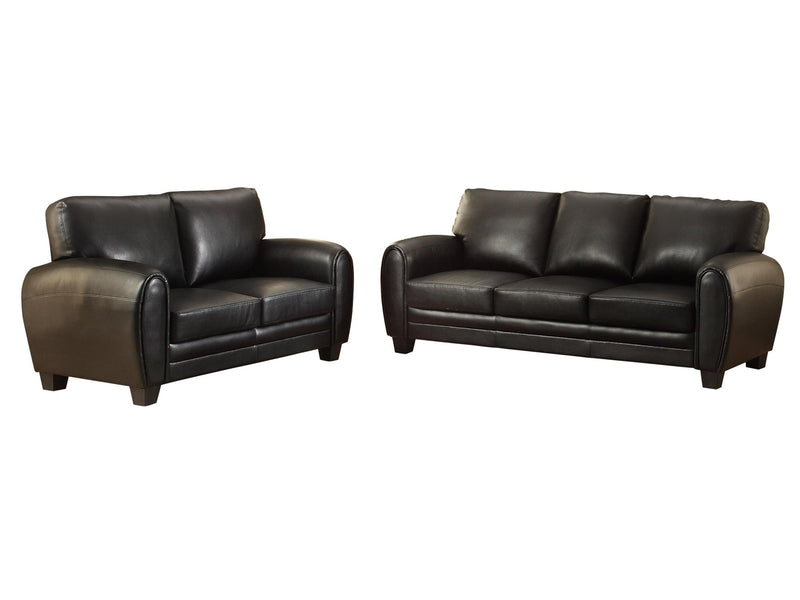 Homelegance Rubin 2PC Set Sofa & Love Seat in Microfiber - Black