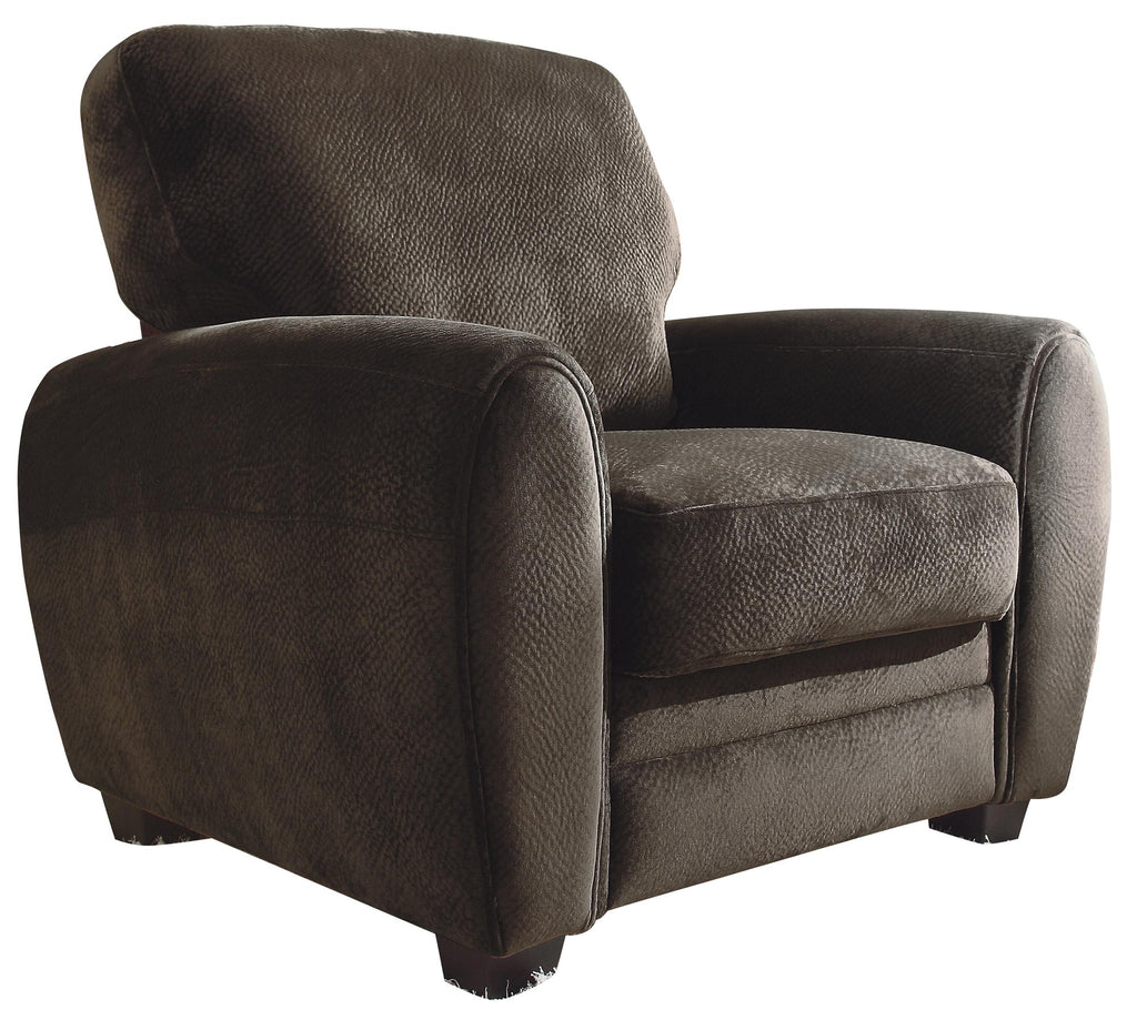 Homelegance Rubin Chair in Microfiber - Chocolate