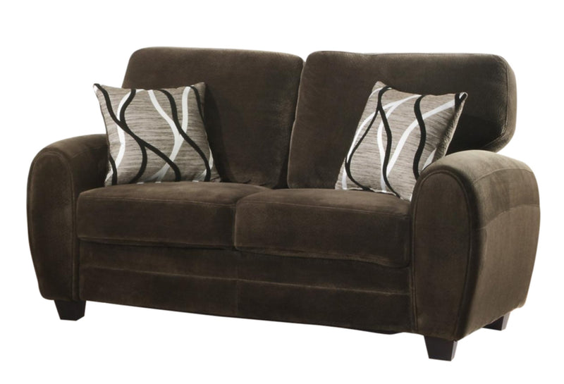 Homelegance Rubin Love Seat in Microfiber - Chocolate