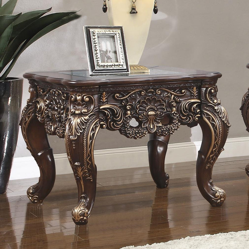 End Table in Cherry Walnut Finish E998C European Traditional Victorian