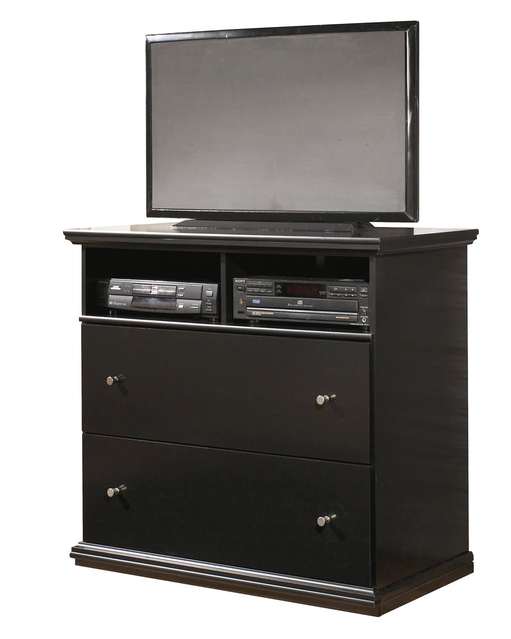 Ashley Maribel media chest in Black - The Furniture Space.