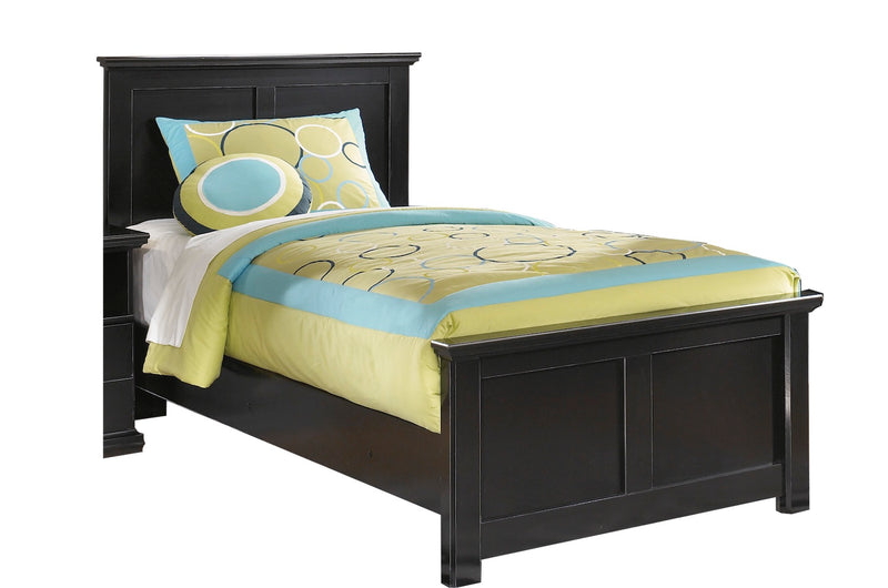 Ashley Maribel Twin Panel Bed in Black - The Furniture Space.