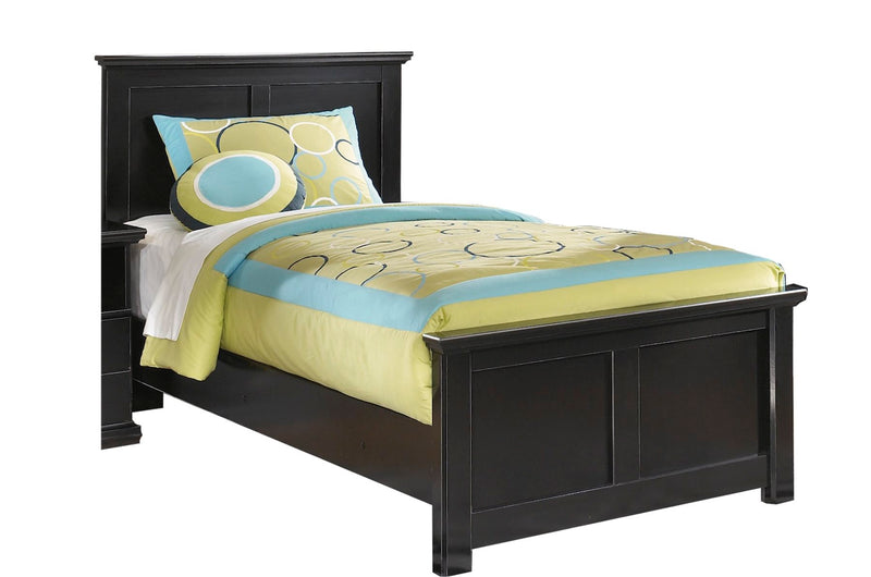 Ashley Maribel 6 PC Twin Panel Bedroom Set with Two Nightstand & Chest in Black - The Furniture Space.