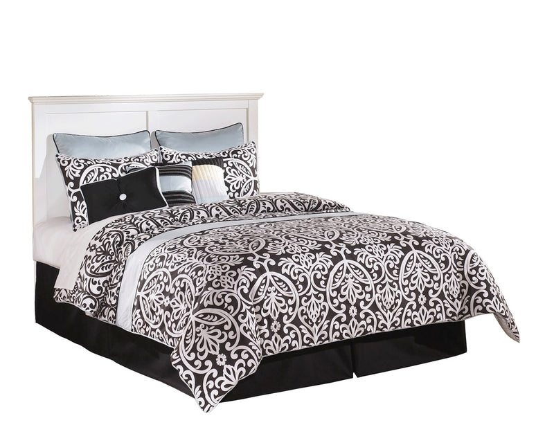 Ashley Bostwick Shoals 4 PC E King Panel Headboard Bedroom Set in White - The Furniture Space.