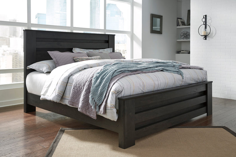 Ashley Brinxton Queen Poster Bed In Black