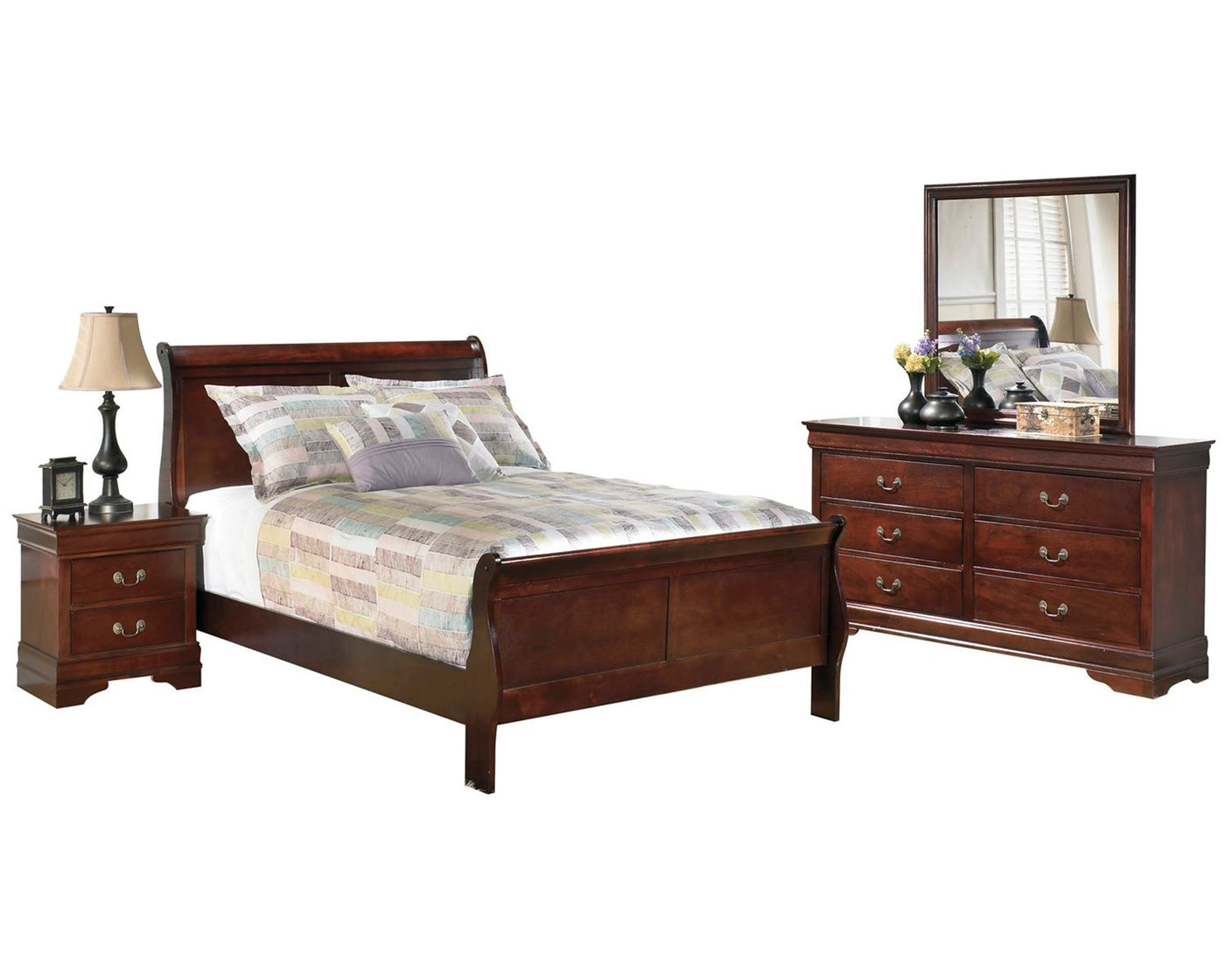 Ashley Alisdair 4PC Bedroom Set E King Sleigh Bed One Nightstand ...