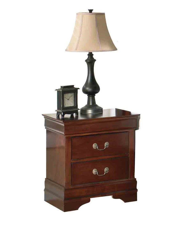 Ashley Alisdair 4PC Bedroom Set Twin Sleigh Bed One Nightstand Dresser Mirror in Dark Brown - The Furniture Space.