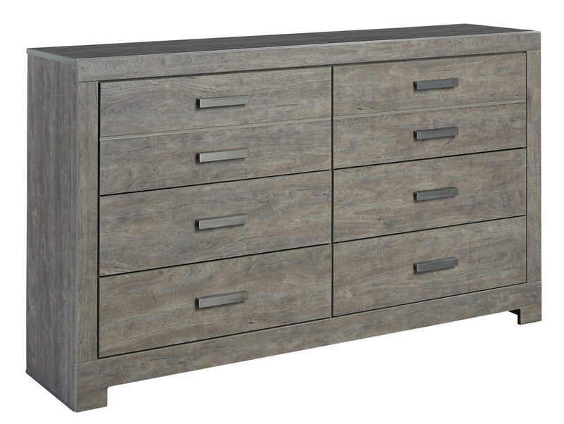 Ashley Culverbach Six Drawer Dresser Weathered Driftwood in Gray - The Furniture Space.