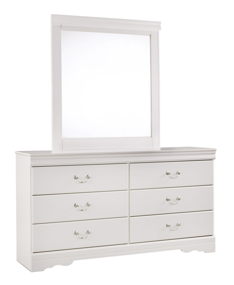 Ashley Anarasia Twin Dresser Mirror in white