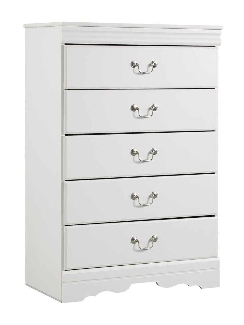 Ashley Anarasia Five Drawer Chest In White