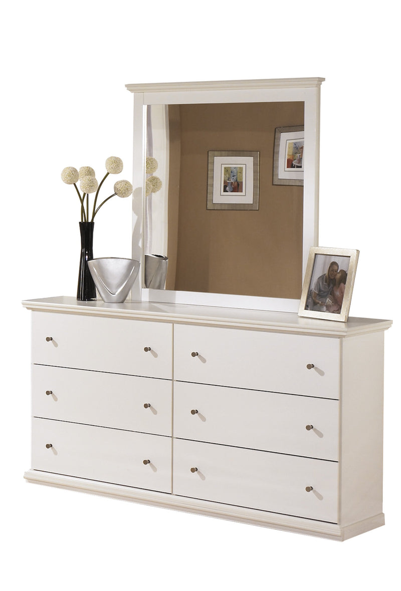Ashley Bostwick Shoals Six Drawer Dresser and Mirror in White