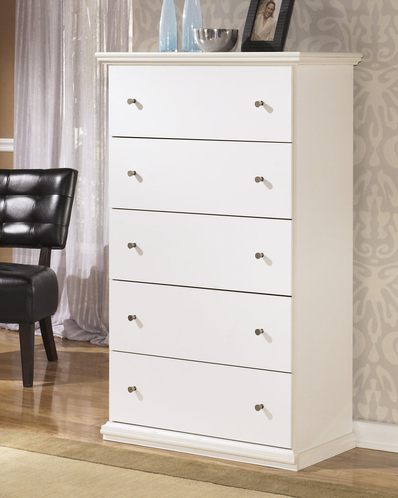 Ashley Bostwick Shoals Five Drawer Chest in White