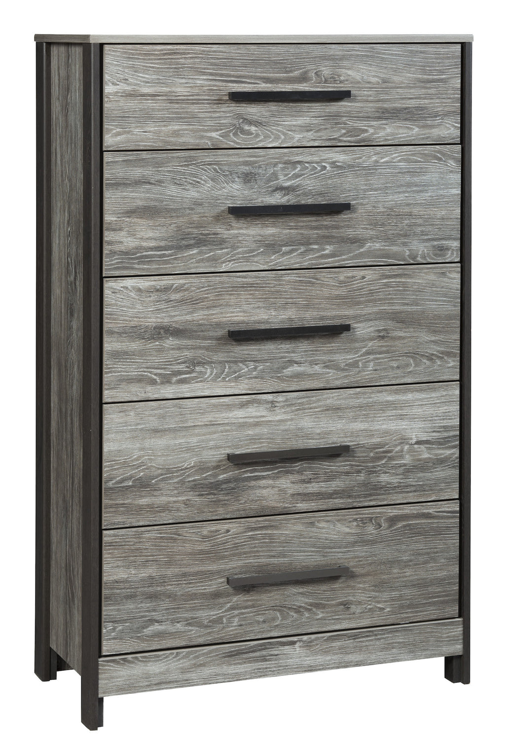 Ashley Cazenfeld Five Drawer Chest In Black/Gray