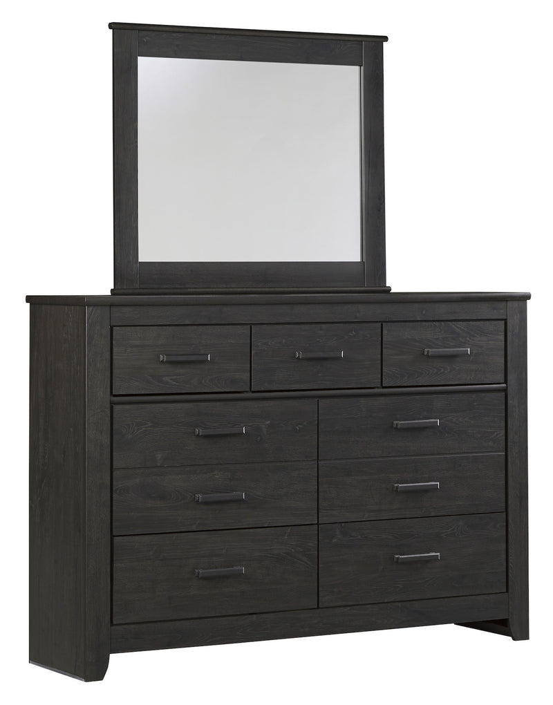 Ashley Brinxton Dresser & Mirror In Black