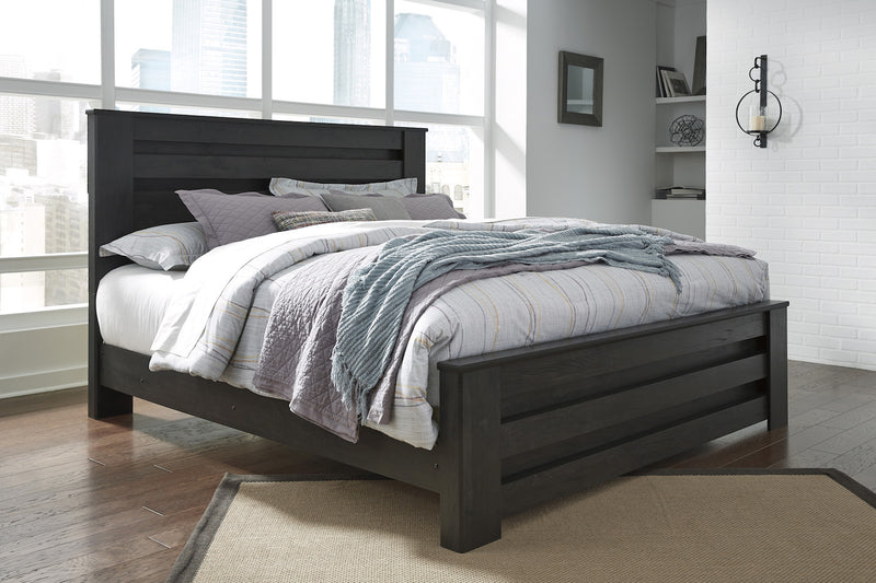 Ashley Brinxton E King Poster Bed In Black