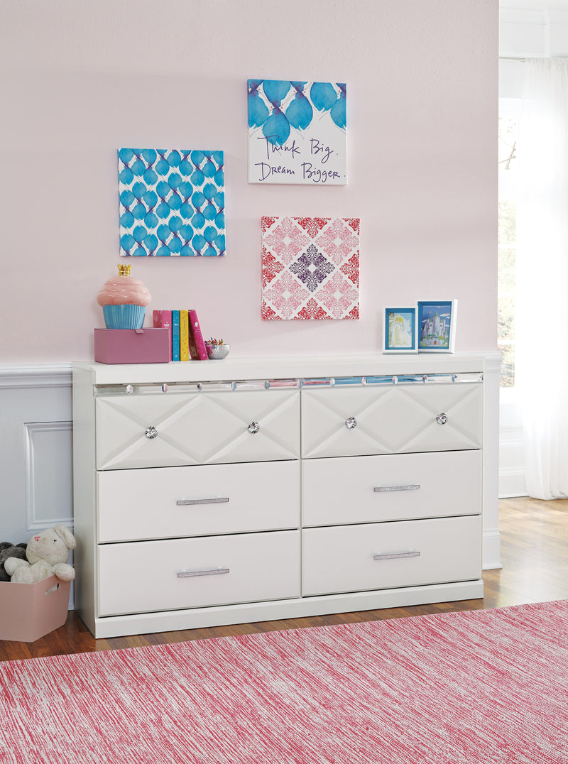 Ashley Dreamur Dresser in Champagne - The Furniture Space.